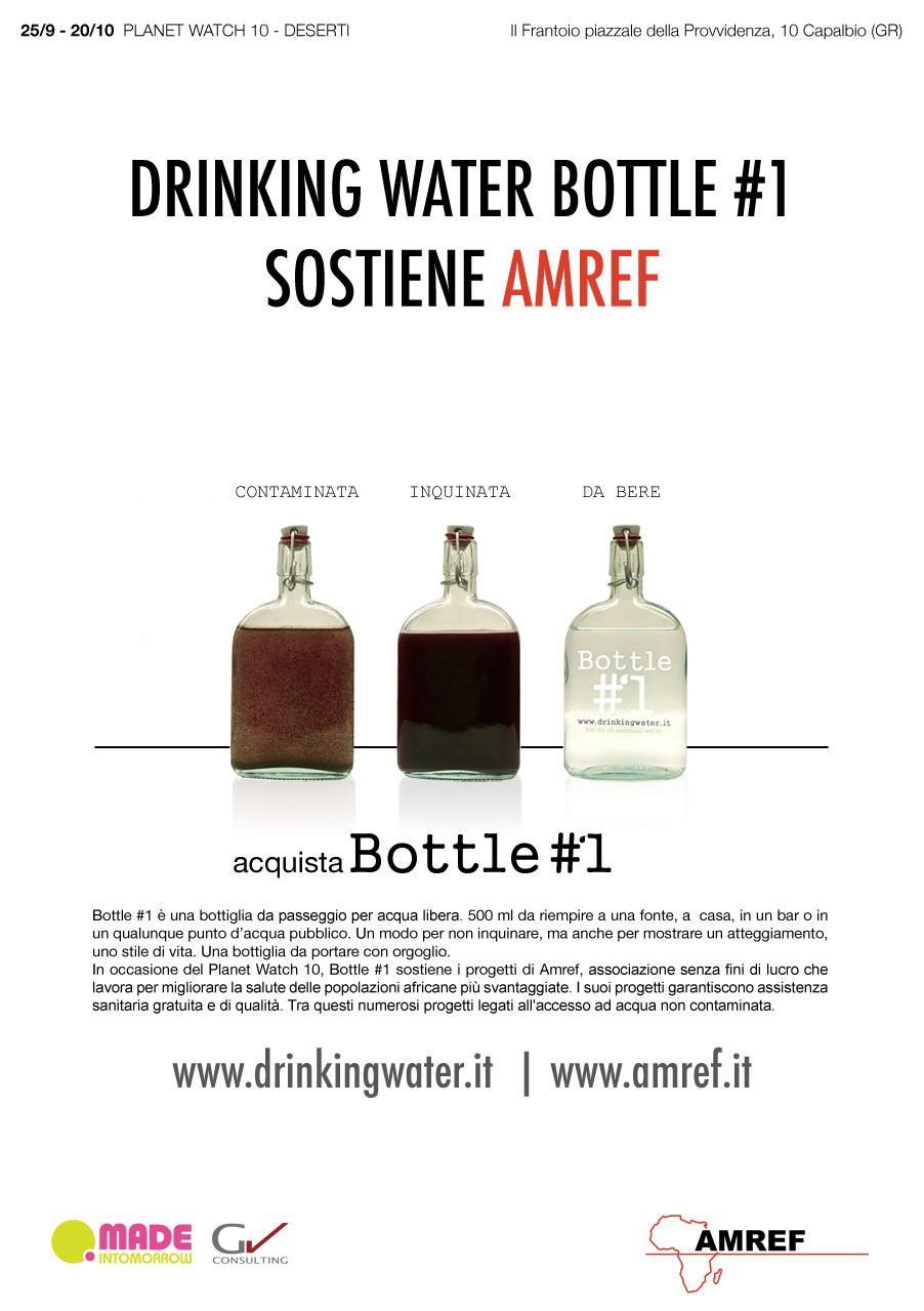 locandina drinking water -AMREF al Planet Watch 10